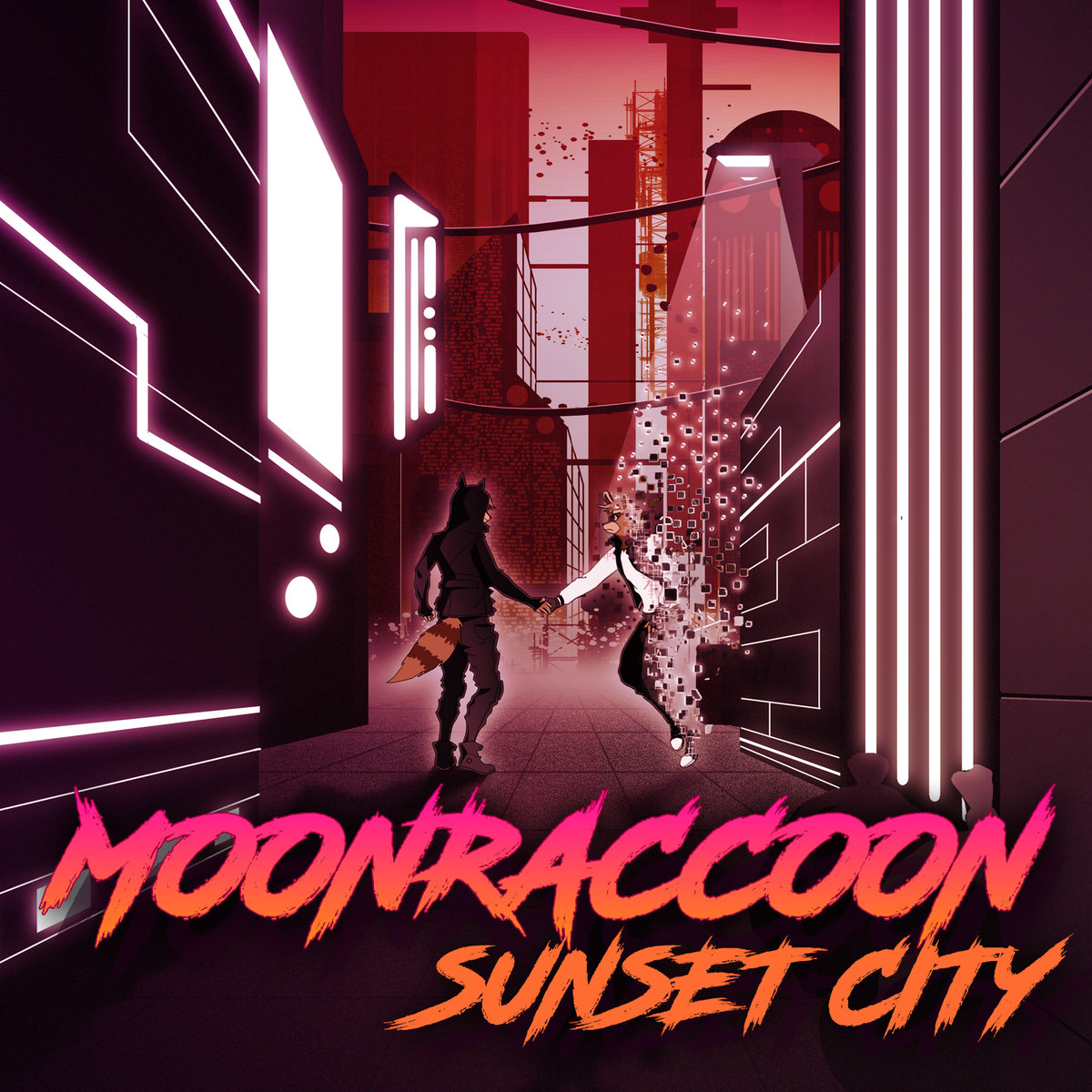 MoonraccoonSunset City-Moonraccoon-Art